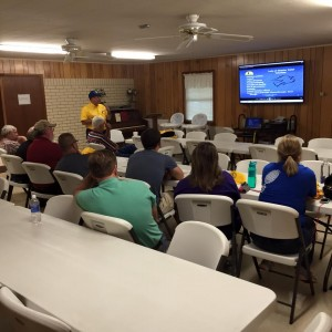 Marvin Leleaux trains nine volunteers who wish to serve on a Louisiana Baptist Disaster Relief team. The training was held at Alford Heights Baptist Church in Many, where Leleaux also serves as pastor. Photo by David Cheatwood/Louisiana Baptist Disaster Relief