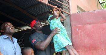 Football teammates labor for Haitians' clean water