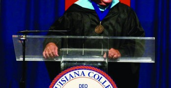 Foster receives DSA at annual Louisiana College Founders' Day ceremonies