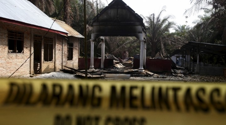 Indonesian churches closed, burned, demolished by Muslim extremists