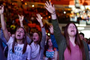 Each year, worship is among the highlights of the Youth Evangelism Celebration.