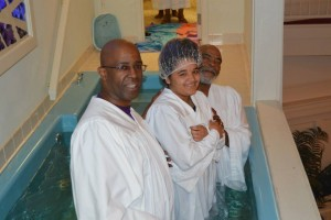 Baptisms such as this one are commonplace at United Outreach Church in Shreveport. Since 2014, they have baptized more than 80, including 30 this year.