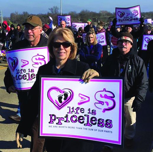 Marchers at the 3rd annual Louisiana Life March Saturday in Shreveport/Bossier.
