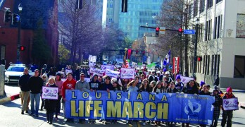 Crowds brave chilly temperatures to march for life in Baton Rouge