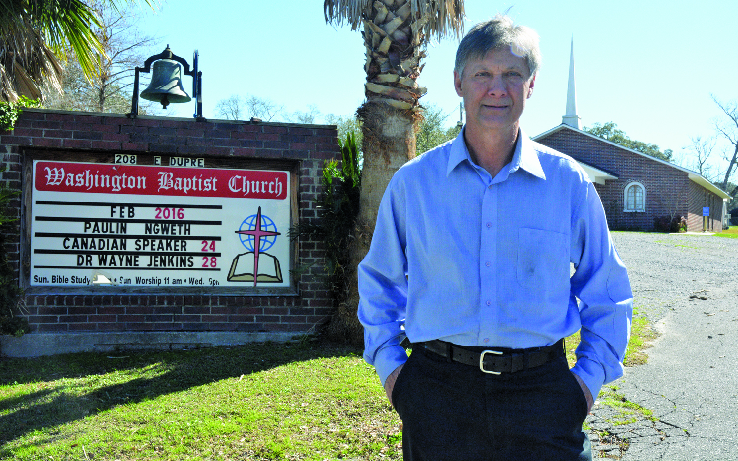 On any given Sunday morning, Louis Charrier is preaching from the pulpit at Washington Baptist Church, a church he has pastored since 1994. In more than 30 years of ministry, Charrier has planted 17 churches in the Acadiana region.