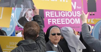 Court ponders religious liberty in HHS mandate