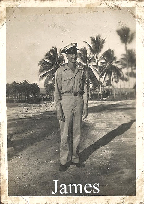 The late Jimmy Connelly, shown here in uniform during World War II's battles in the Pacific, received a Purple Heart for injuries when his Navy troop transport was hit by enemy fire -- an honor he never told anyone about until some 10 years ago. Submitted photo