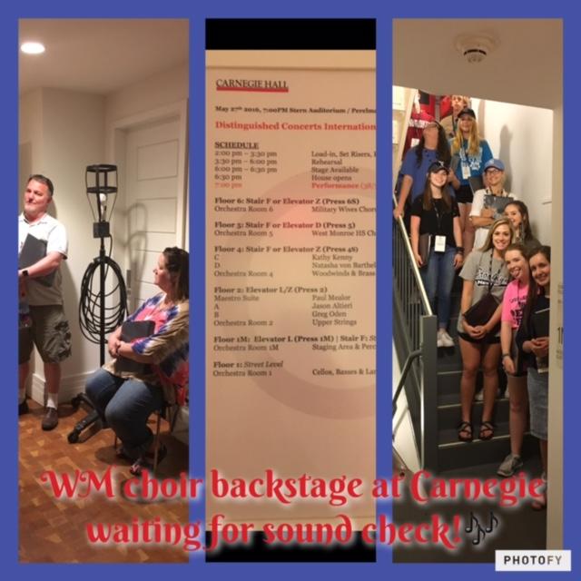 West Monroe choir - backstage
