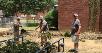 First Baptist Church Bossier City aids Louisiana College landscaping efforts