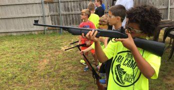 Young men learning to run the race toward biblical manhood at RA Camp