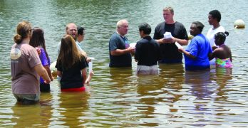 FBC Ruston transforms lake for celebration  of transformed lives