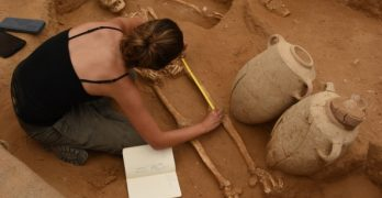 Skeletons, DNA well preserved at ancient Philistine burial site