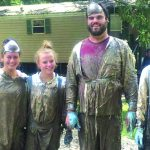 Youth from FBC Ponchatoula pitched in to help clean out homes damaged by the recent flooding.