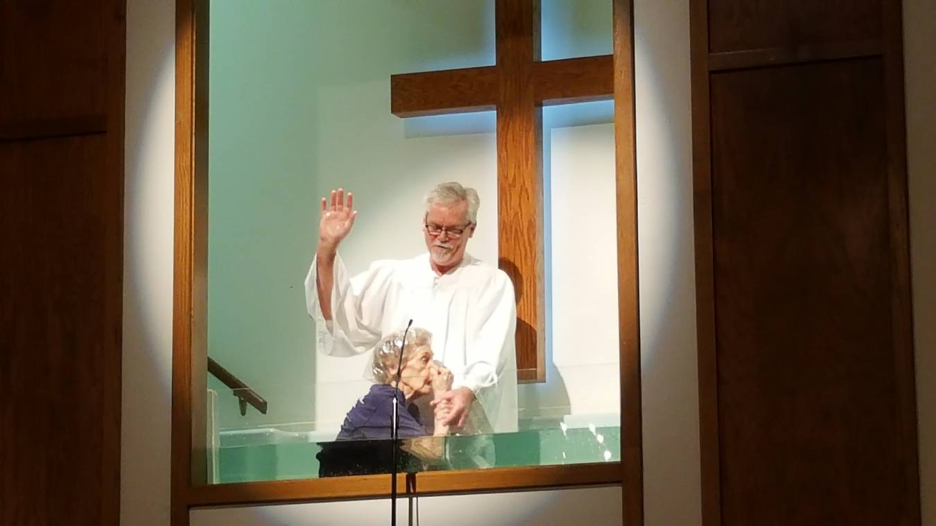 It's never too late: Baptism gives 94-year-old new life