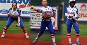 Three LC freshmen from northwestern Louisiana make instant impact for Lady Wildcat softball