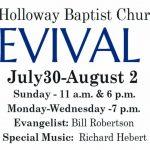 Holloway Baptist Church Revival