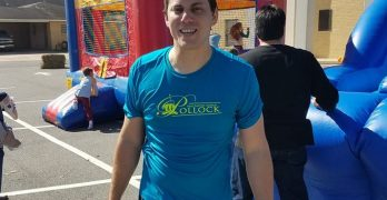 Pollock pastor braves chilly conditions in dunking booth for children's ministry