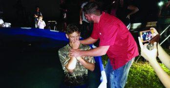 Jonesboro man celebrates being  new Christian, Louisiana Baptist