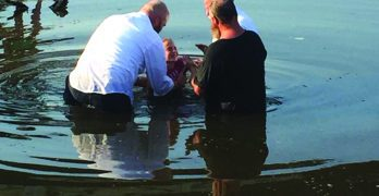 Muddy waters a clear choice  for baptisms