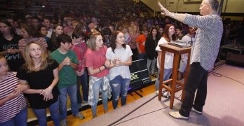 Jena athletes turn to Christ at Tomorrow's Hope crusade