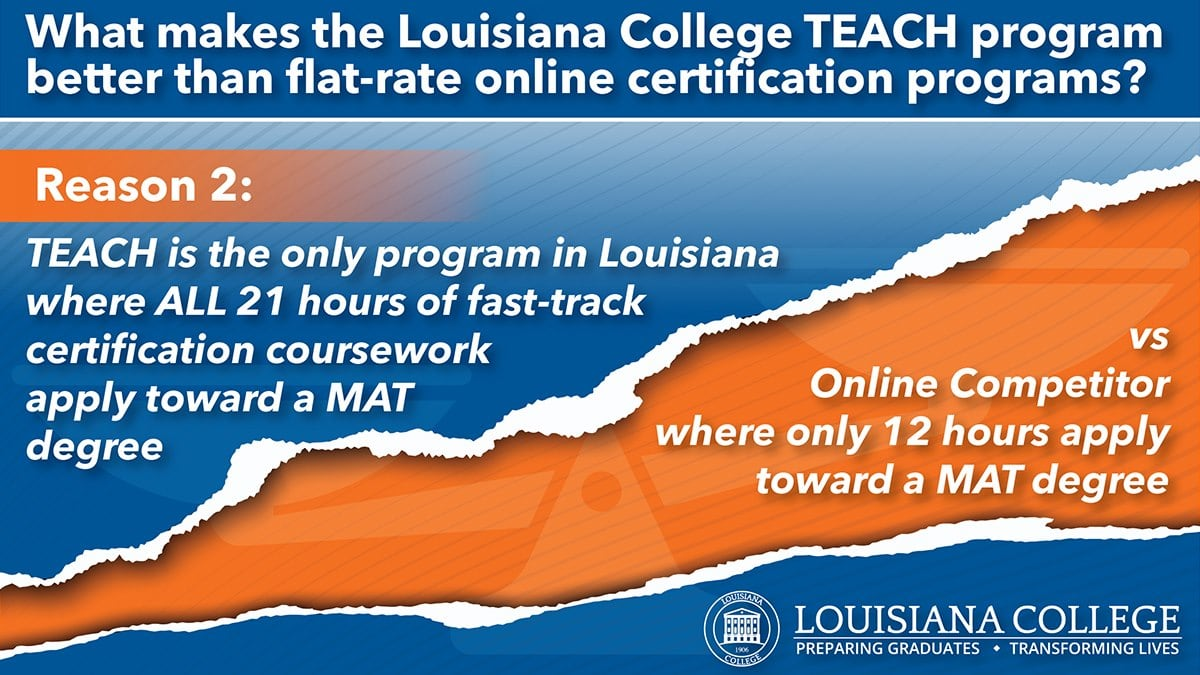 teach certification louisiana distinguished innovations effective teachers college lc advantages